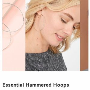 Stella & Dot Essential Hammered Hoops